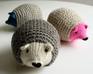 knit hedgehog tutorial