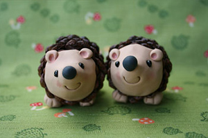 pinecone hedgehog craft