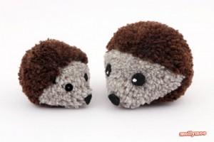 pom pom hedgehog crafts